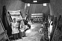 A weaving workshop in Tabriz about 1900