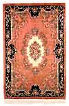 CHINESE Carved rug in French Aubusson design.
