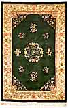 "CHINESE Carved rug in ""Peking"" design. Wool on cotton, 90 line weave"