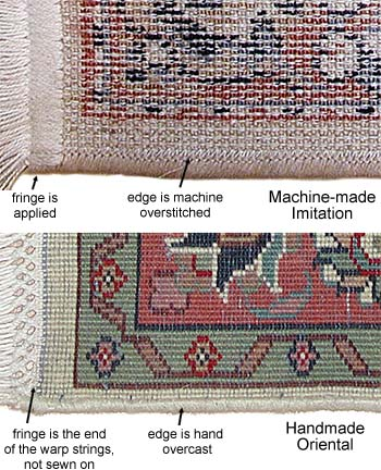 The Construction Of Machine Made Rug Is Very Diffe From Handmade Oriental There An Oversch Pattern Across Whole Back