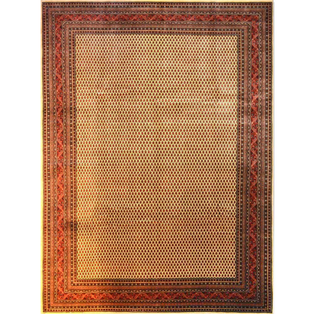 Size 09x10 Seraband Wool Rug India