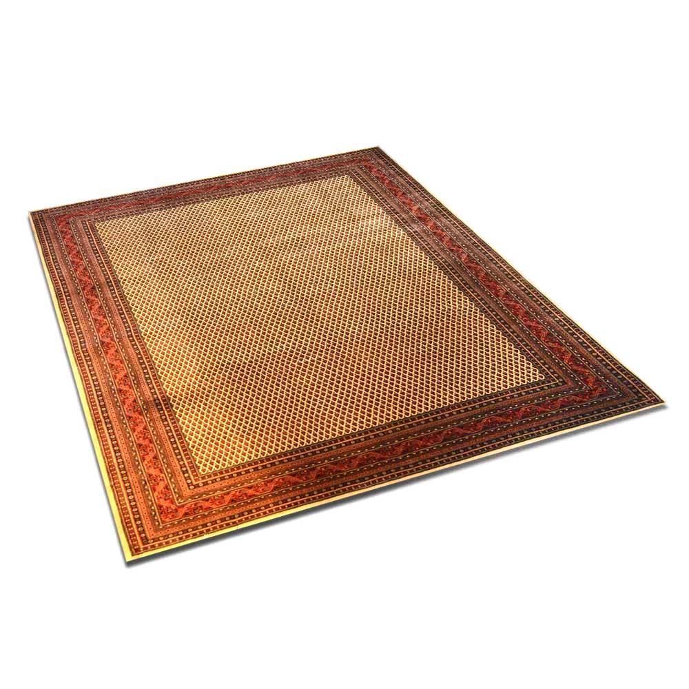 Size 09x10 Seraband Wool Rug India