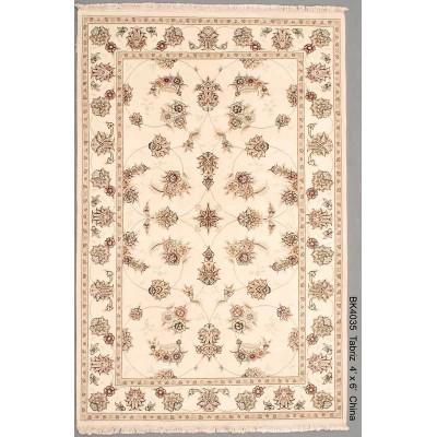 """Tabriz Wool Rug (4'0"""" x 6' 0""""  )"""