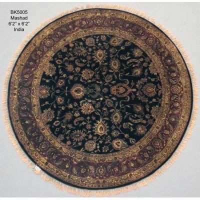 """Mashhad Round Wool Rug(6' 2"""" x 6' 2"""" )"""