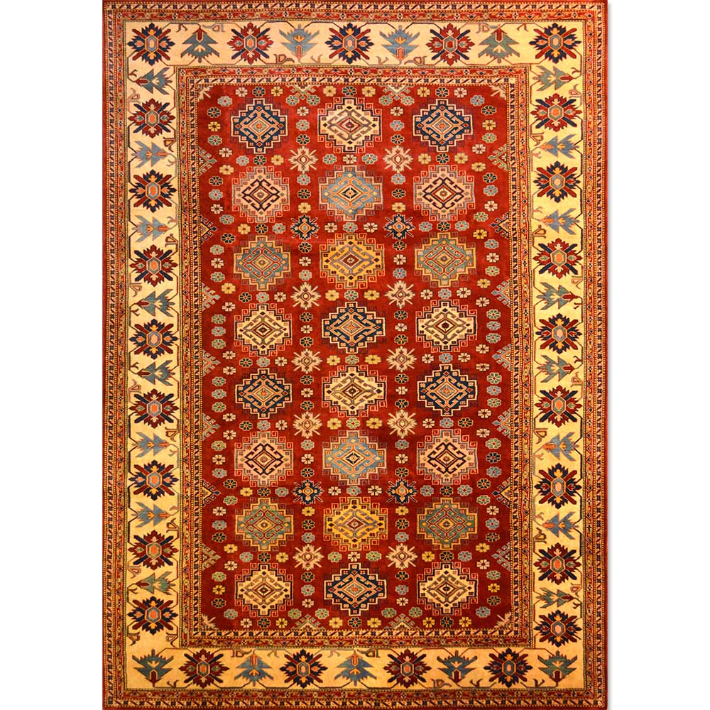 Size 06x09 Super Kazak Wool Rug Pakistan