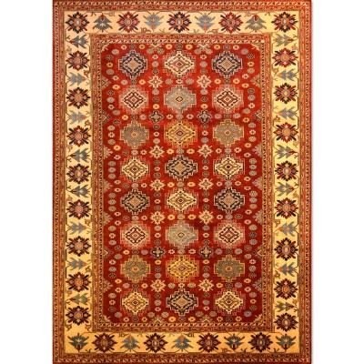 "SUPER KAZAK Wool Rug XS6001 (6' 10' x 9' 10"" )"