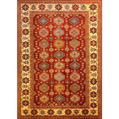 "SUPER KAZAK Wool Rug XS6001 (6' 10' x 9' 10"" )"