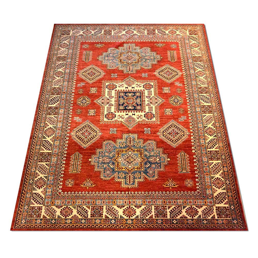 Size 08x10 Super Kazak Wool Rug Pakistan