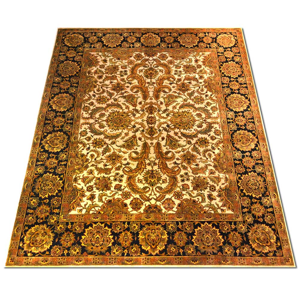 Size 08X10 KASHAN Wool Rug INDIA