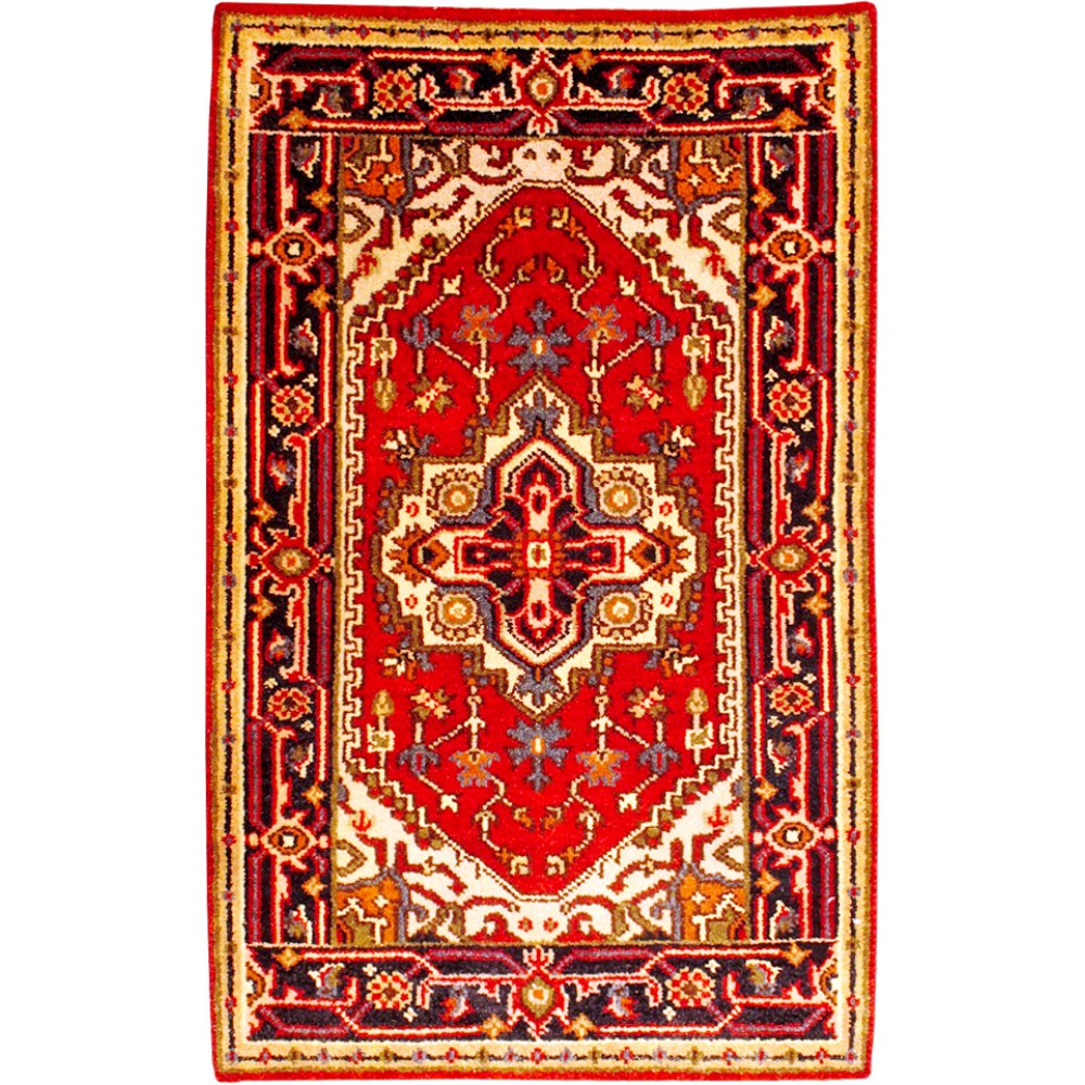 Size 2 7 x 4 2 serapi wool rug from india for Home inspired by india rug