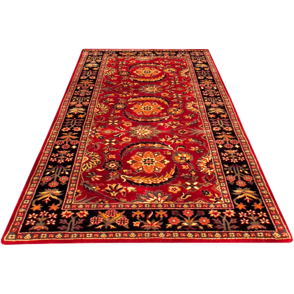 Size 2 4 X 4 10 Akbar Wool Rug From India