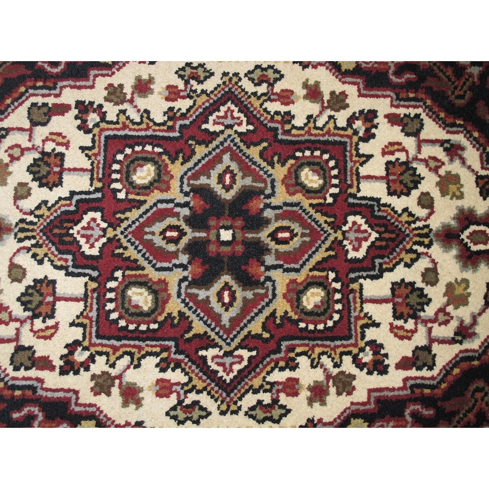 "Size 3'0"" X 5'0"" Serapi Wool Rug From India"