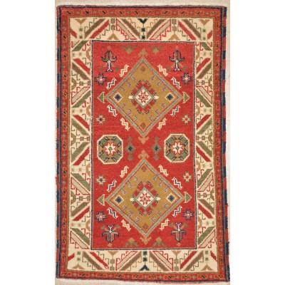 """Kazak Wool Rug 12-819 (3'0"""" x 4'11"""")"""