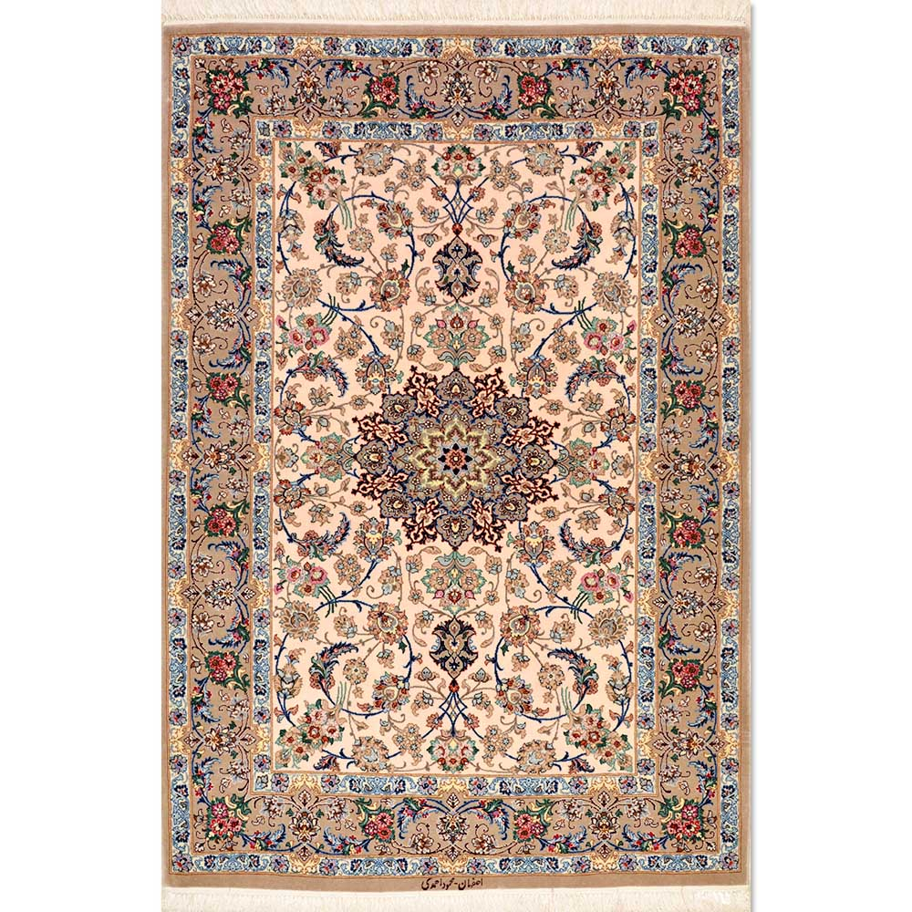 "Persian Rugs From Iran: Size 3'6"" X 5'3"" Isfahan Rug From Iran"