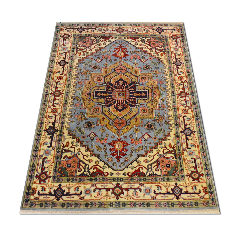 Size 5 9 x8 5 herez wool rug india for Home inspired by india rug
