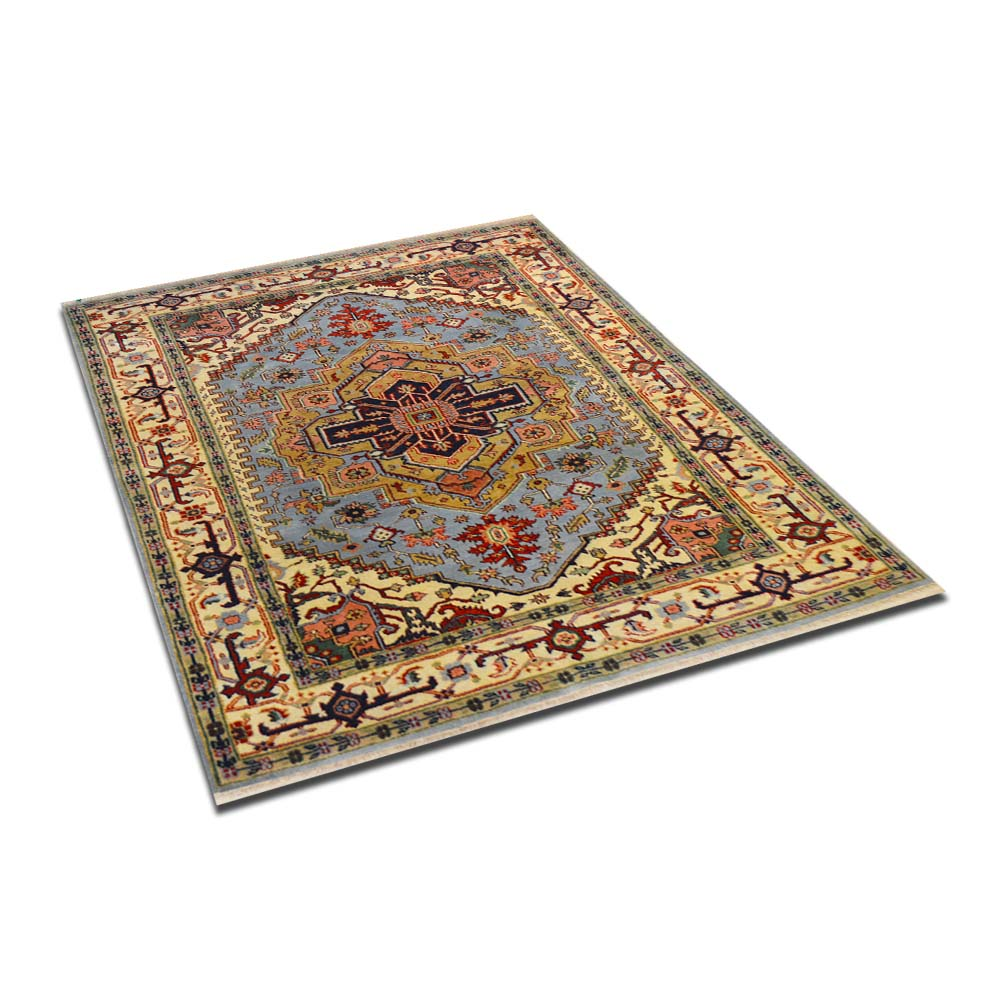 Size 5 9 X8 5 Herez Wool Rug India
