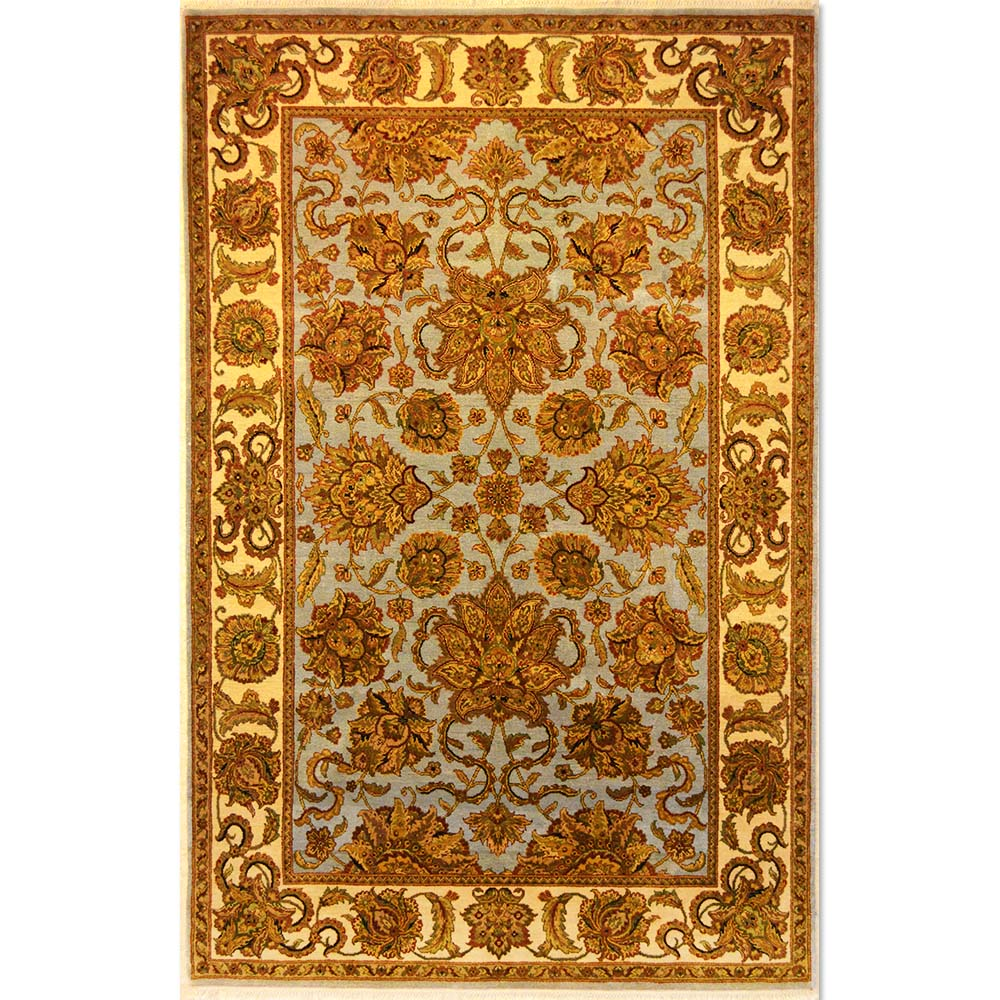 Size 5 10 X 9 Kashan Hand Knotted Wool Rug From India