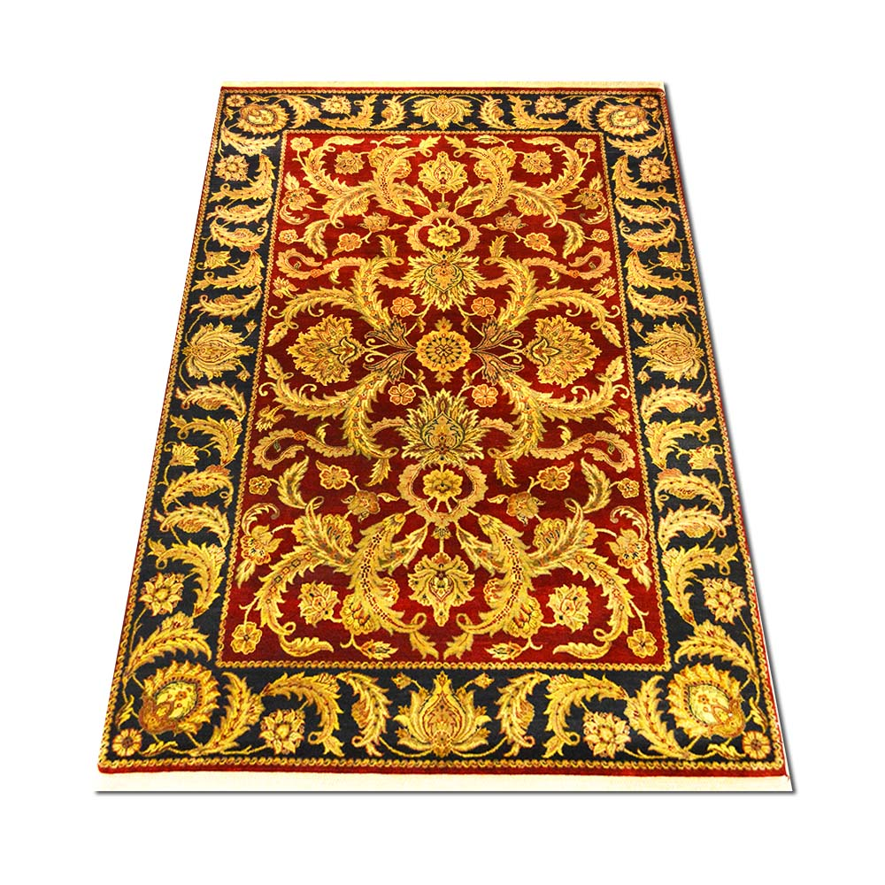 Size 5 11 X 9 Kashan Hand Knotted Wool Rug From India