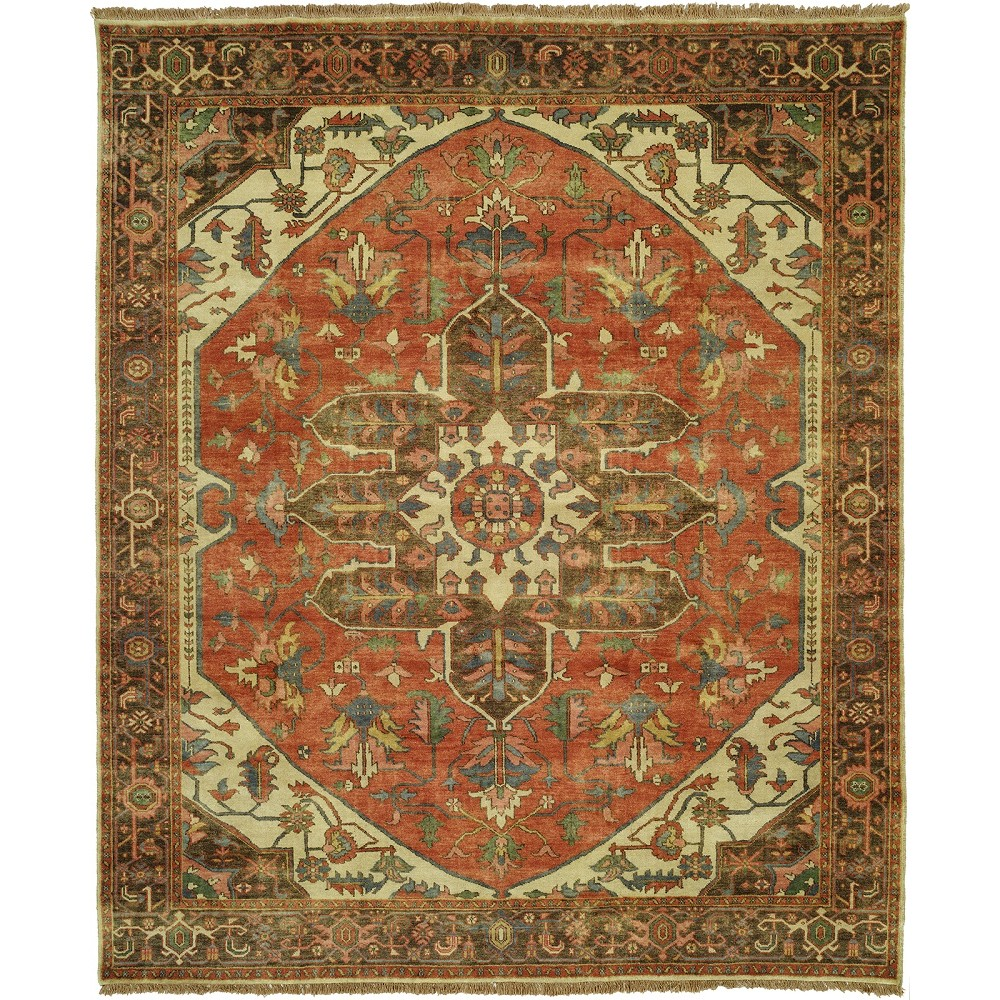 "Wool Rugs Made In India: Size 10'0""x14'0"" Serapi Collection Hand Knotted Wool Rug"