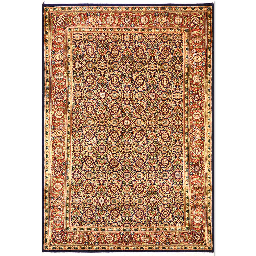 "Size 4'3"" X 6'1"" Herati Wool Rug From India"