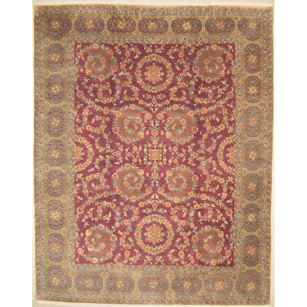 "Size 7'11"" X 9'11"" Agra Wool Rug From India"