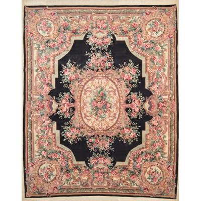 """Aubusson Wool Rug Jac1143 (7'9"""" x 9'9"""")"""