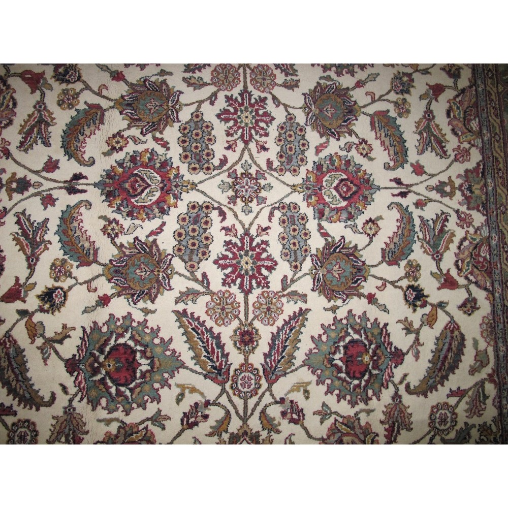 """Size 2 7 X6 2 Agra Rug India: Size 7'9"""" X 9'9"""" Isfahan Wool Rug From India"""