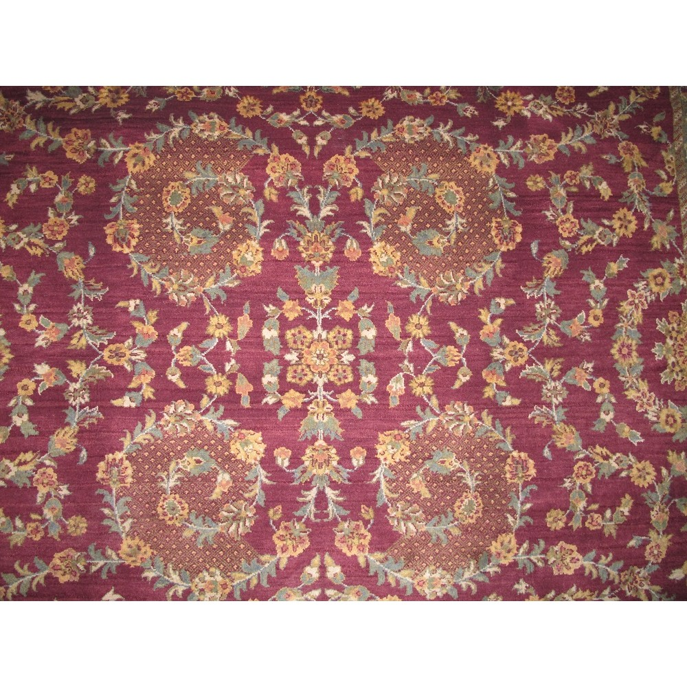 """Size 7'11"""" X 9'11"""" Agra Wool Rug From India"""