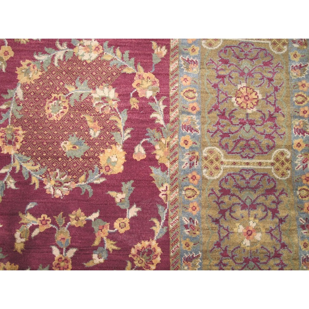 Size 7 11 Quot X 9 11 Quot Agra Wool Rug From India