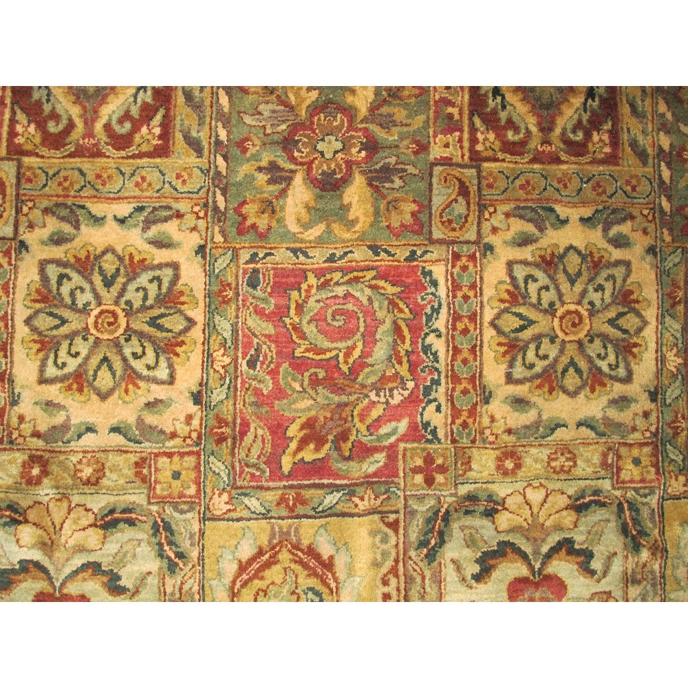 """Size 9'9"""" X 8'0"""" Panel Tabriz Rug From India"""