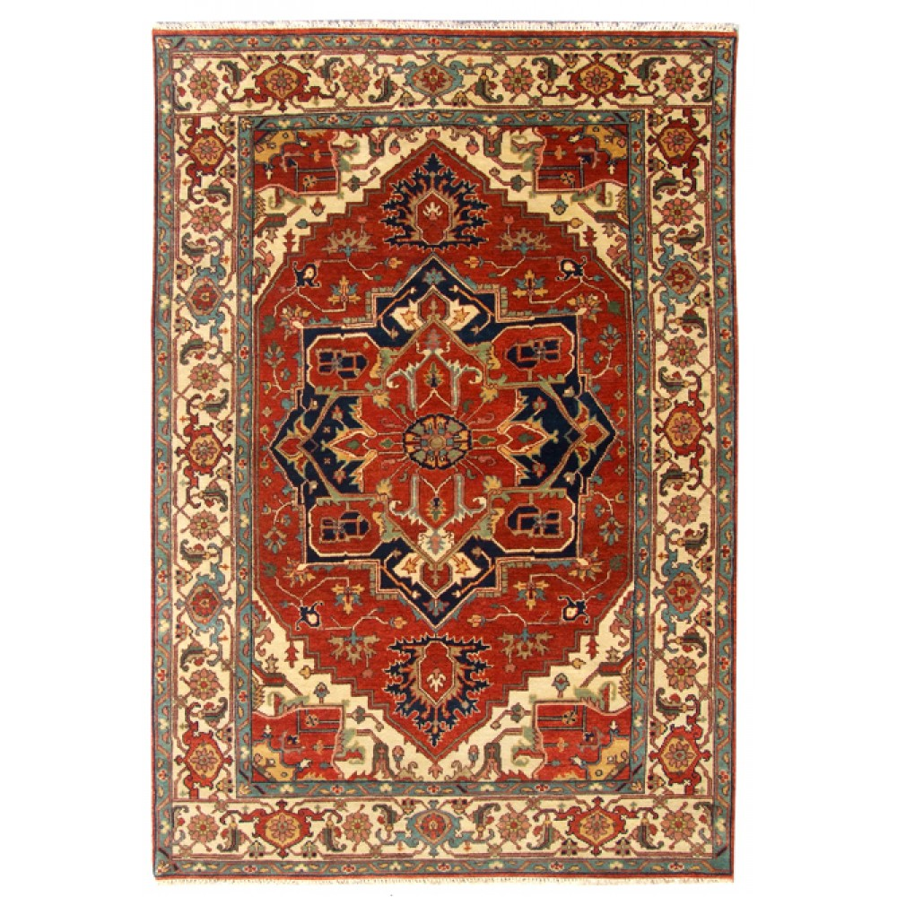 Size 6 00 Quot X 9 01 Quot Heriz Wool Rug From India