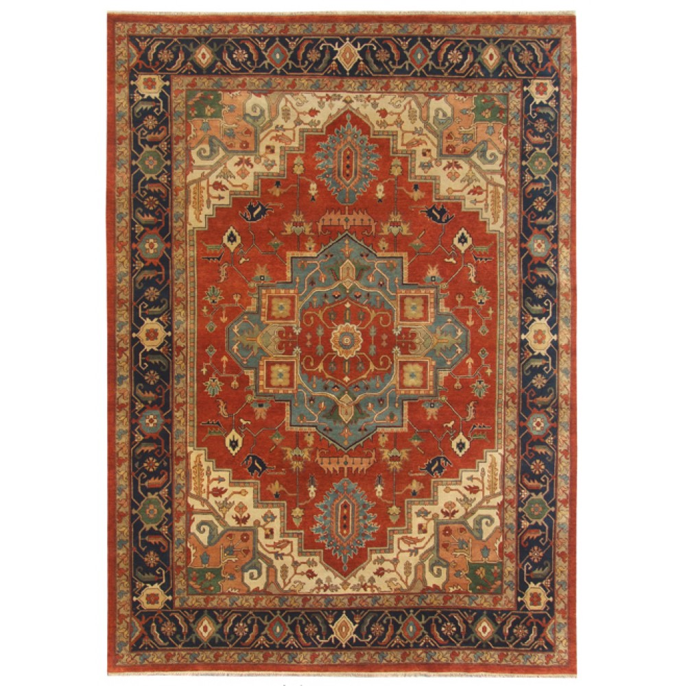 Size 9 11 Quot X 14 03 Quot Heriz Wool Rug From India