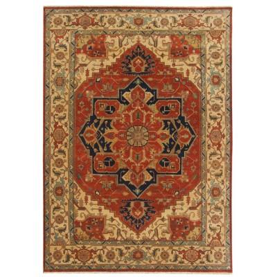 """Heriz Wool Rug ar37865 (  10' 00"""" x 14' 00"""")"""
