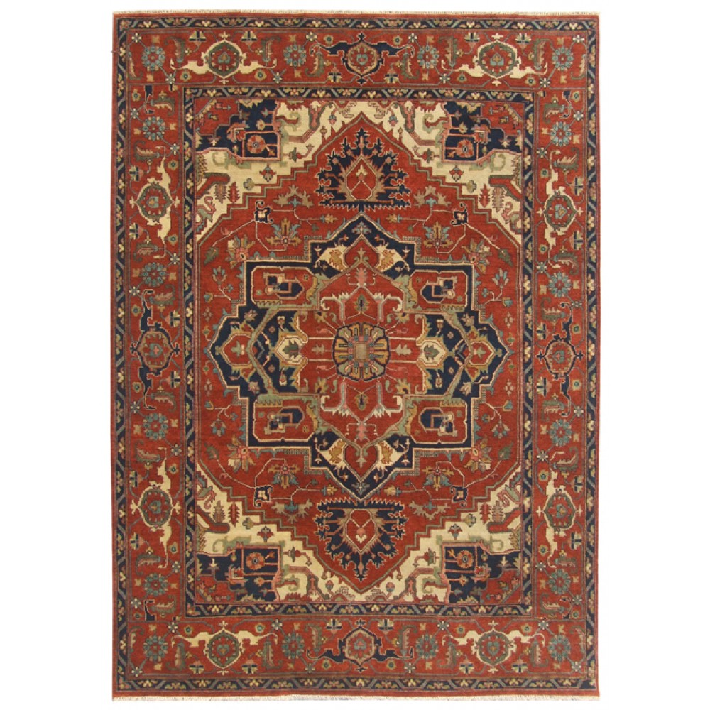 Size 8 02 Quot X 10 01 Quot Heriz Wool Rug From India