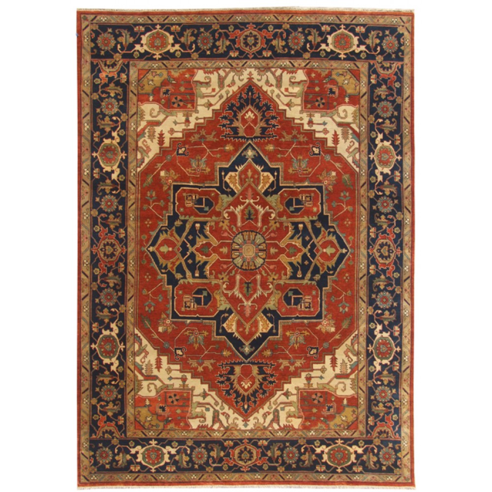 Size 9 11 Quot X 14 00 Quot Heriz Wool Rug From India