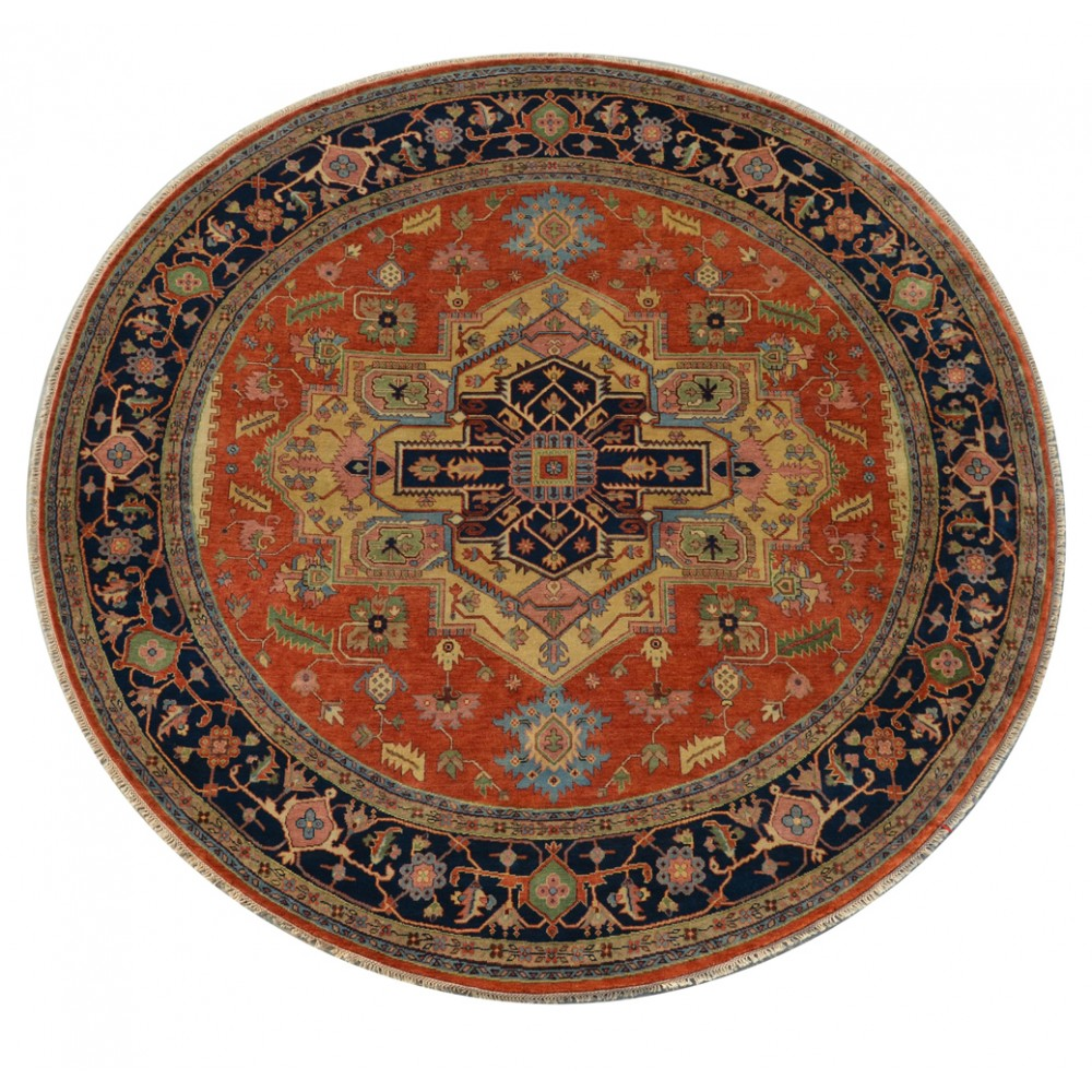 Size 11 10 Quot X 11 11 Quot Heriz Wool Rug From India
