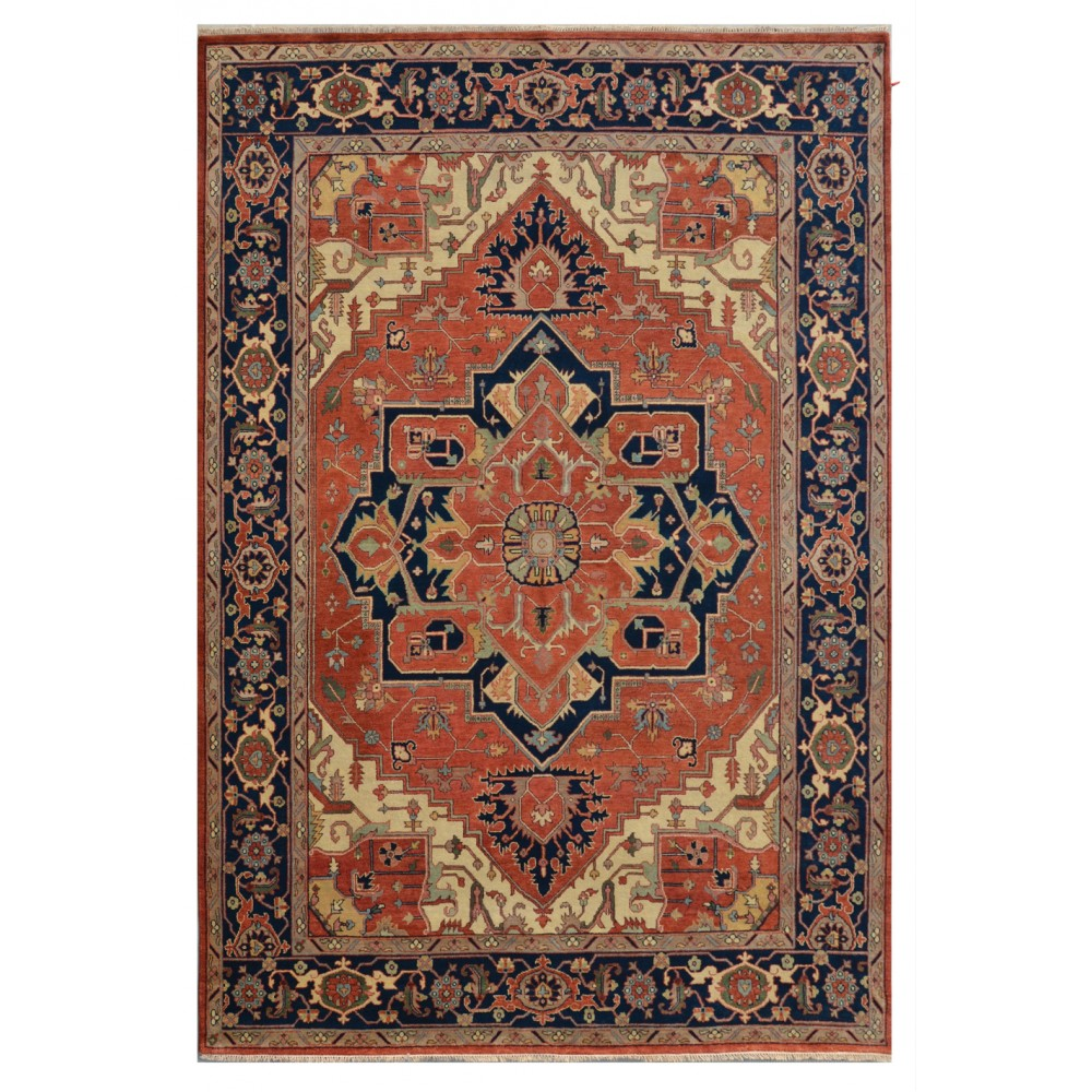 "Size 10' 01"" X 14' 00"", Heriz Wool Rug From India"