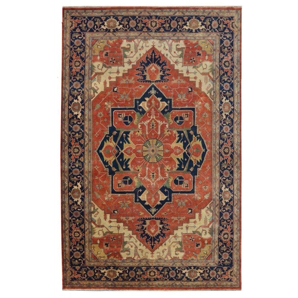 Size 11 11 Quot X 17 11 Quot Heriz Wool Rug From India
