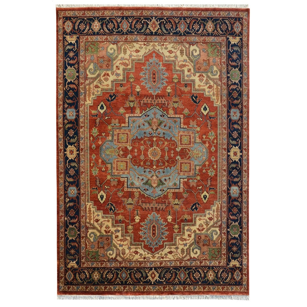 Size 9 09 Quot X 14 03 Quot Heriz Wool Rug From India
