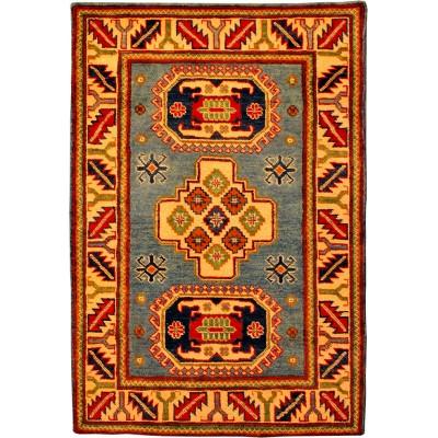 """Kazak Wool Rug(2' 10"""" x 4' 1"""")"""