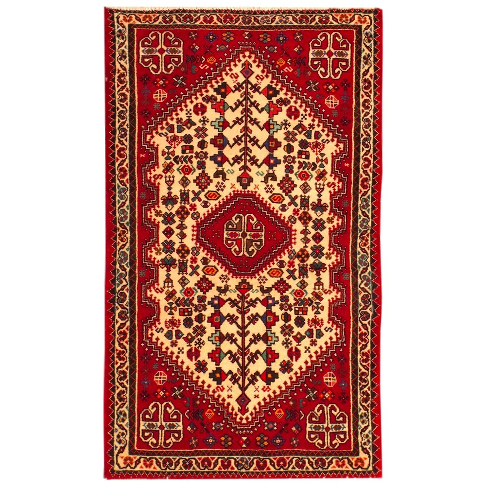 """Royal Border Oriental Rug By Rug Culture: Size 2'2"""" X 3'7"""" Abadeh Wool Rug From Iran"""