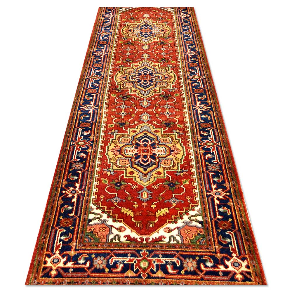 Size 3 39 2 x10 39 3 serapi rug india for Home inspired by india rug