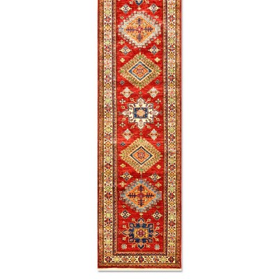 "SUPER KAZAK Wool Rug Jac9017 (Size 2'7""x10'1"")"