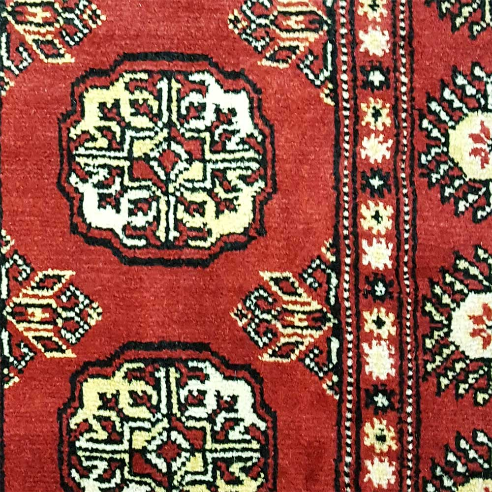 "Pakistan Bokhara Rugs In Red: Size 2'5""x13'7"" BOKHARA Wool Rug Pakistan"