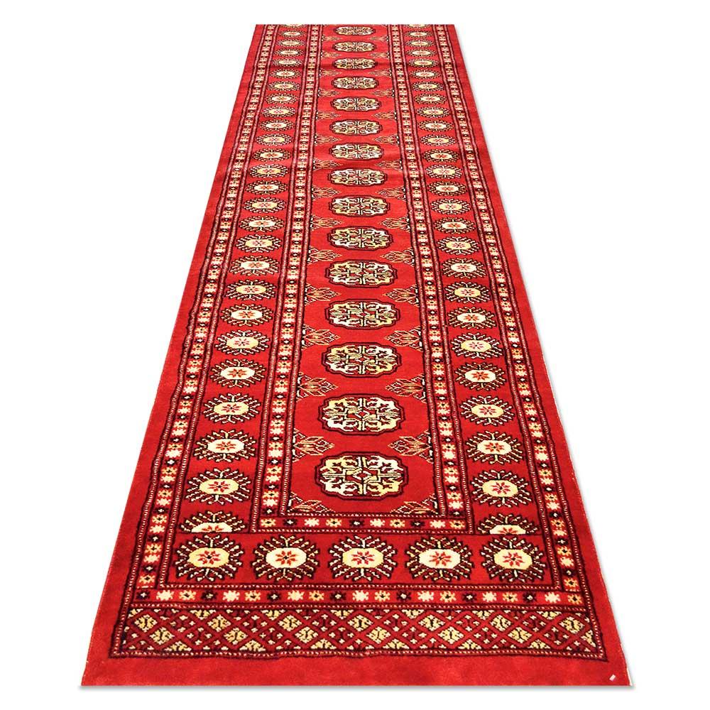 """Size 2'5""""x13'7"""" BOKHARA Wool Rug Pakistan"""