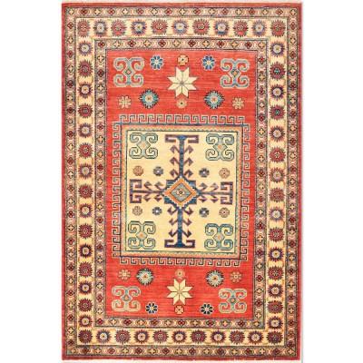 Kazak Rug 4'x6' az1397 (Size 4'x6')