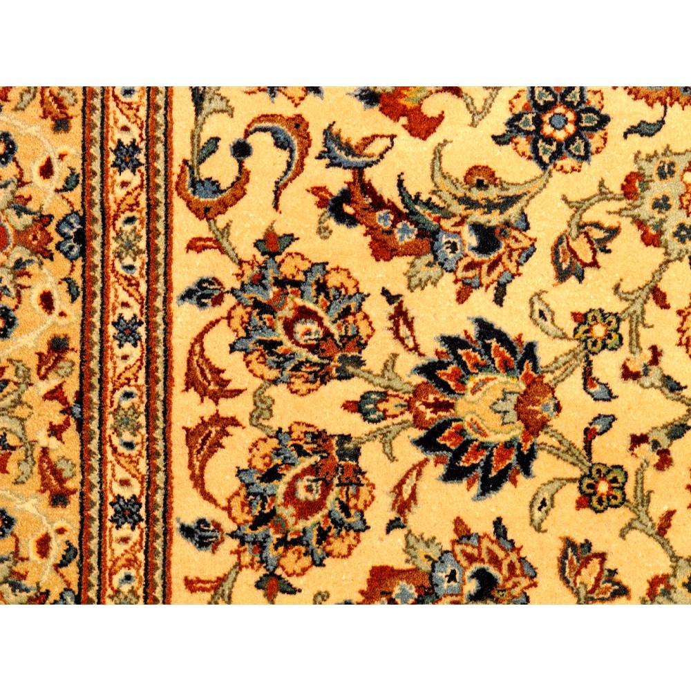 """Size 2 7 X6 2 Agra Rug India: Size 4' 7"""" X 6' 10"""" Kashan Wool Rug From Iran"""