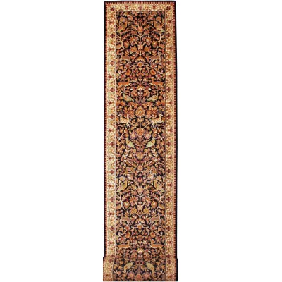 "Animal Tabriz Wool Runner ( 2' 7"" x 19' 8"")"