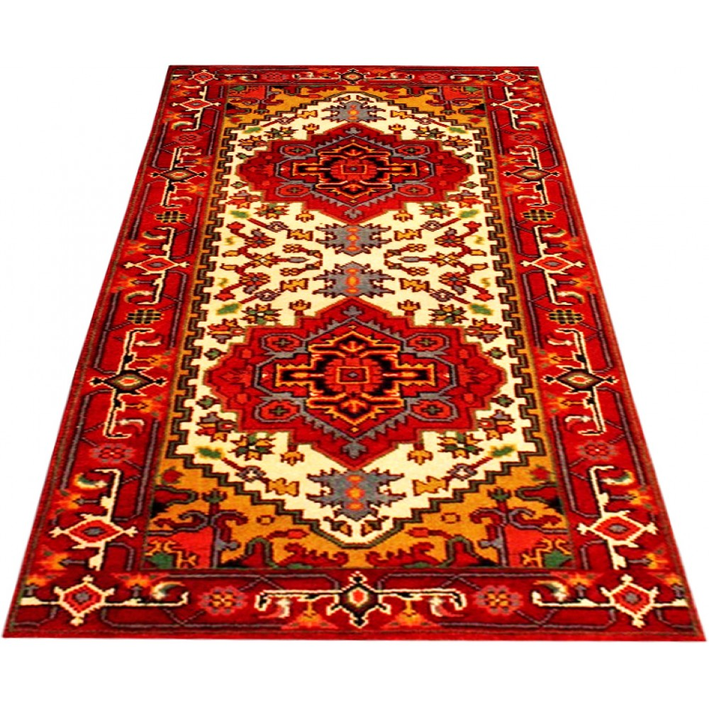 """Size 2' 7"""" X 6' Herez Wool Runner From India"""