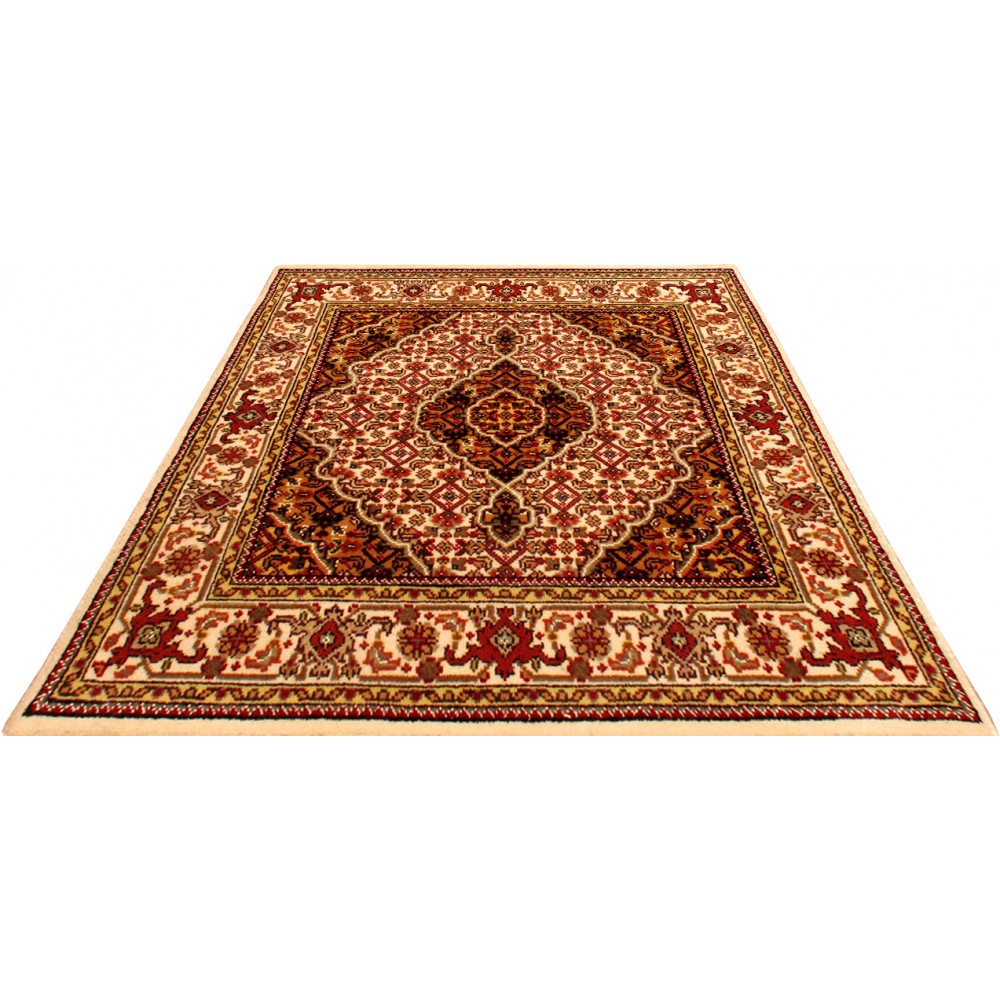 "Wool Rugs Made In India: Size 3' 1"" X 3' 1"" Tabriz Wool Rug From India"